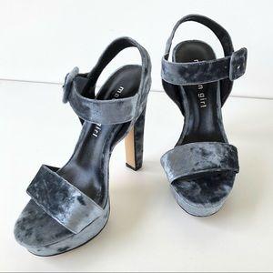 MADDEN GIRL Rollo Platform Sandals Steel Blue Sz 5